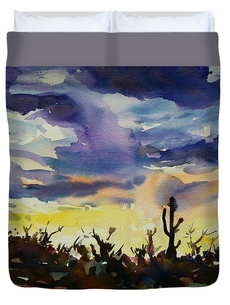 Sunset Sonora Duvet Cover by Xueling Zou