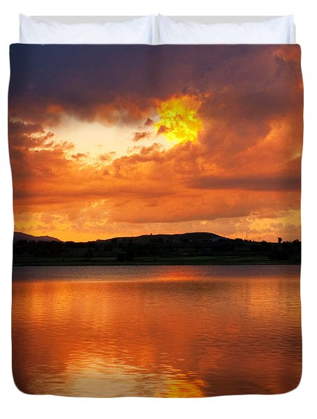 Sunset With a Golden Nugget Duvet Cover by James BO  Insogna