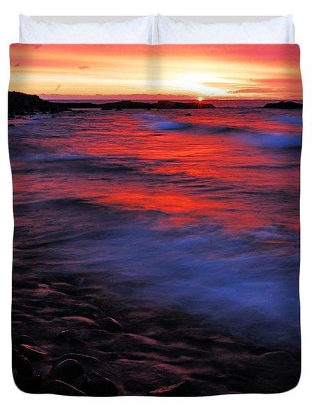 Superior Sunrise Duvet Cover by Larry Ricker