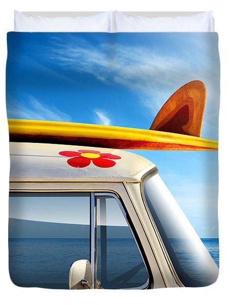 Surf Van Duvet Cover by Carlos Caetano