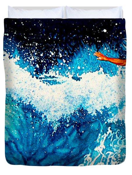 Surfer Girl Duvet Cover by Hanne Lore Koehler