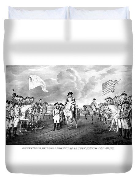 Surrender Of Lord Cornwallis At Yorktown Duvet Cover by War Is Hell Store