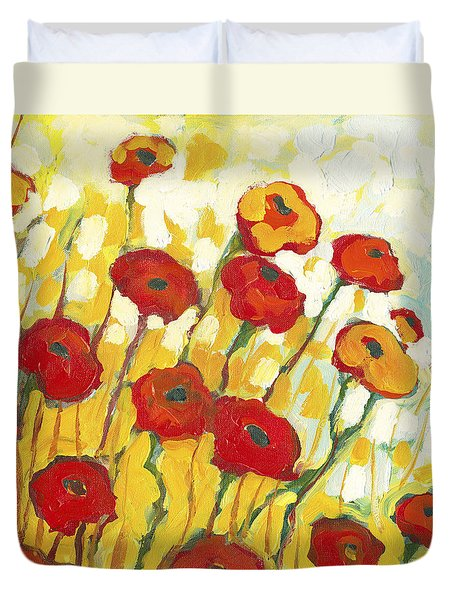 Surrounded in Gold Duvet Cover by Jennifer Lommers