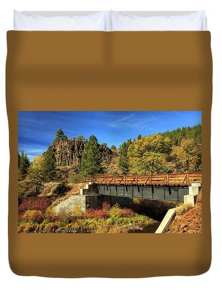 Susan River Bridge On The Bizz Duvet Cover by James Eddy