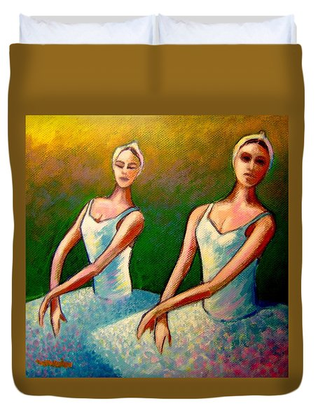 Swan Lake I Duvet Cover by John  Nolan