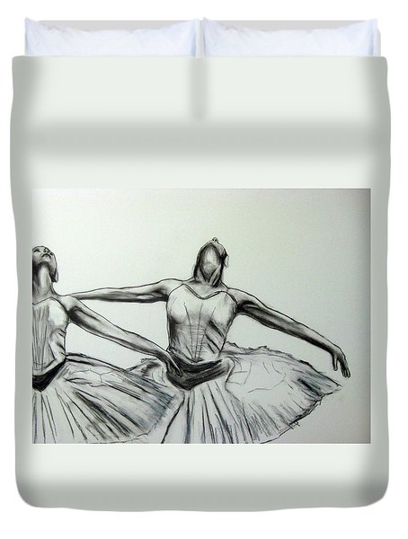 Swans Duvet Cover by James Gallagher