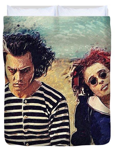Sweeney Todd And Mrs. Lovett Duvet Cover by Taylan Apukovska