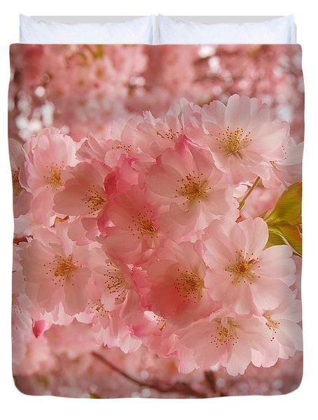 Sweet Pink- Holmdel Park Duvet Cover by Angie Tirado