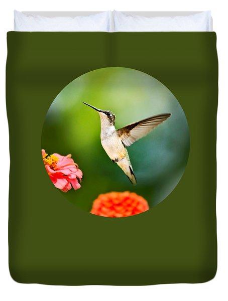 Sweet Promise Hummingbird Duvet Cover by Christina Rollo