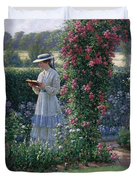 Sweet Solitude Duvet Cover by Edmund Blair Leighton