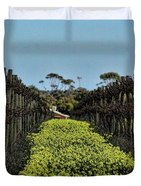 Sweet Vines Duvet Cover by Douglas Barnard