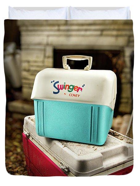 Swinger Cooler Duvet Cover by Yo Pedro