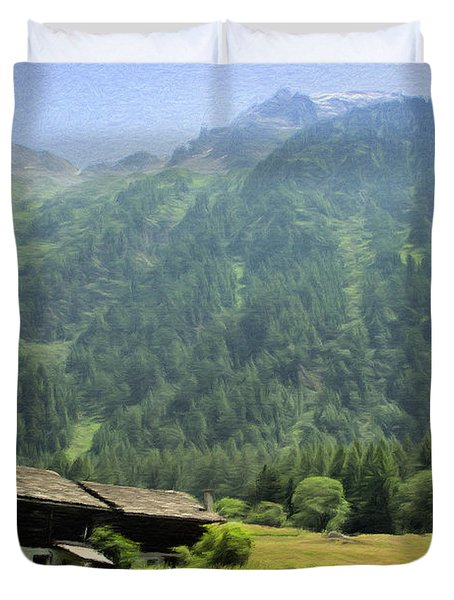 Swiss Mountain Home Duvet Cover by Jeff Kolker