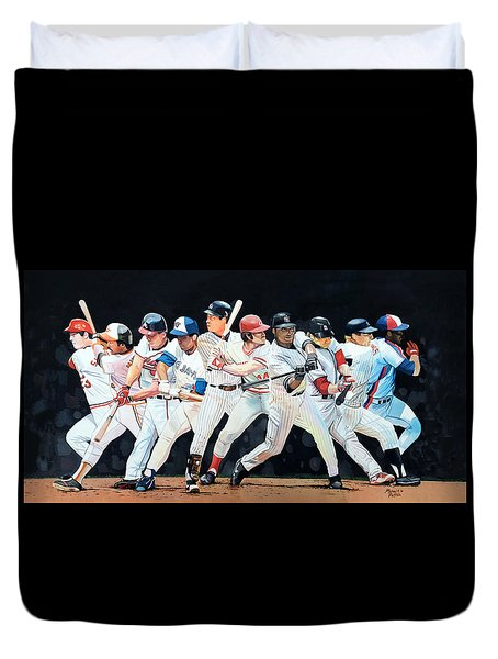 Switch Hitting Collage  Duvet Cover by Michael  Pattison
