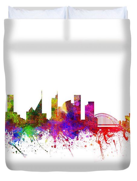 Sydney Australia Cityscape 02 Duvet Cover by Aged Pixel