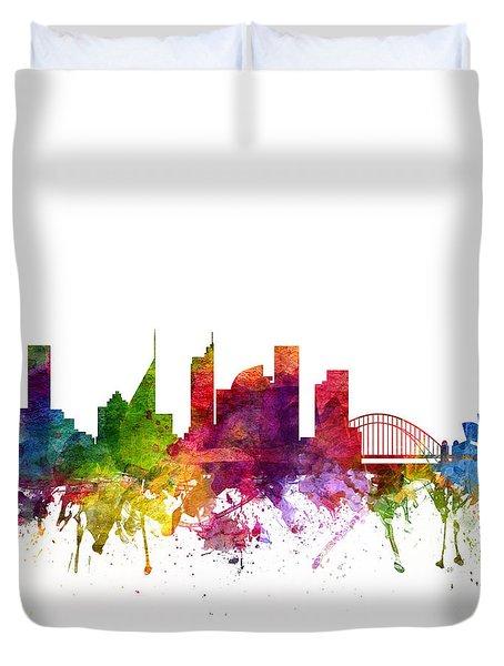 Sydney Australia Cityscape 06 Duvet Cover by Aged Pixel