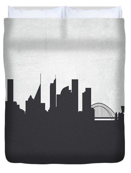 Sydney Australia Cityscape 19 Duvet Cover by Aged Pixel