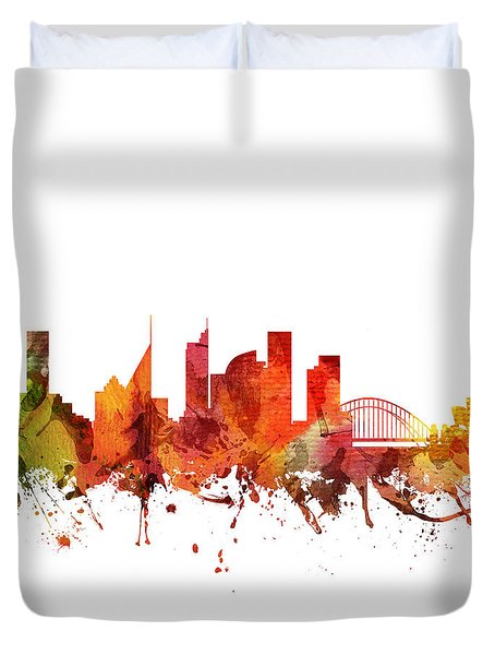 Sydney Cityscape 04 Duvet Cover by Aged Pixel