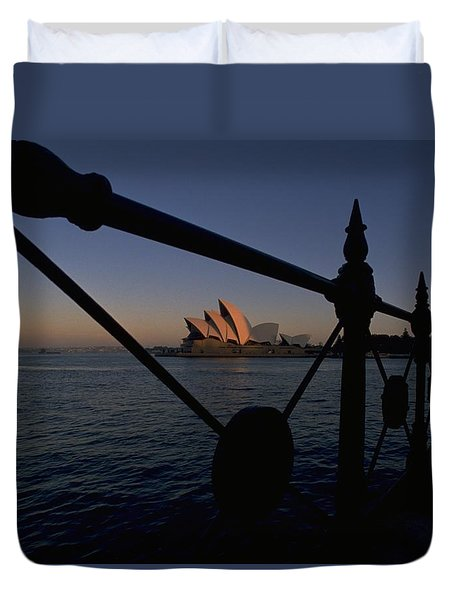 Duvet Cover featuring the photograph Sydney Opera House by Travel Pics