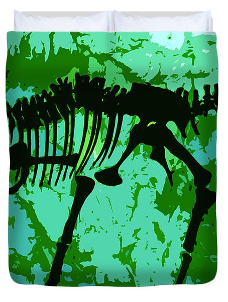 T. Rex Duvet Cover by David Lee Thompson