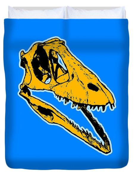 T-rex Graphic Duvet Cover by Pixel  Chimp