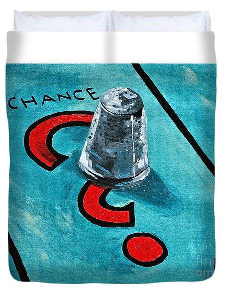 Taking A Chance Duvet Cover by Herschel Fall