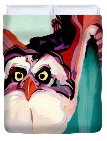 Talons Down Duvet Cover by Marlene Burns