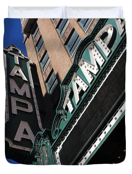 Tampa Theatre Duvet Cover by Carol Groenen