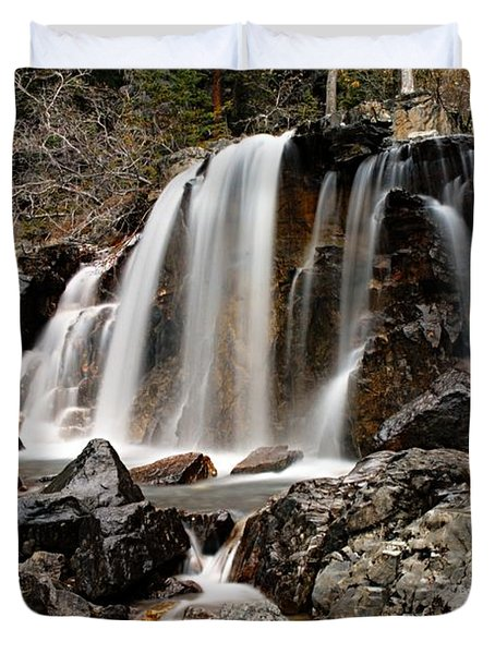 Tangle Falls Closeup 5 Duvet Cover by Larry Ricker