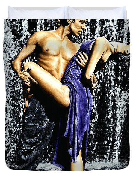 Tango Cascade Duvet Cover by Richard Young