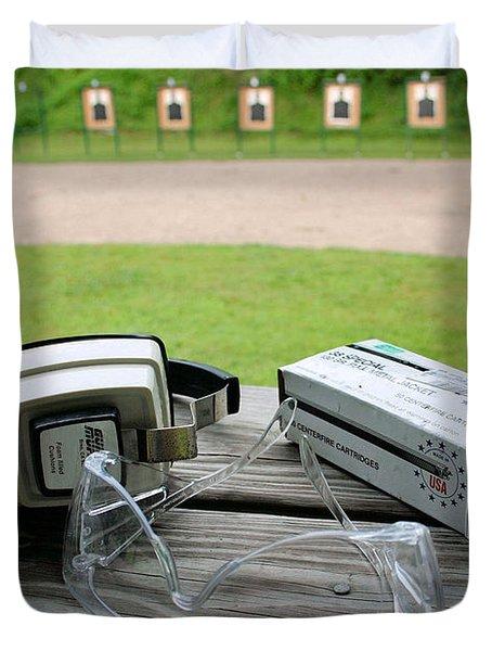 Target Practice Duvet Cover by Kristin Elmquist