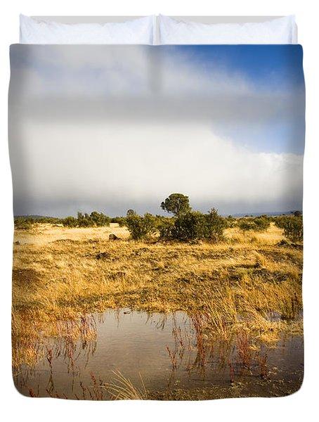 Tasmanian Storm  Duvet Cover by Mike  Dawson