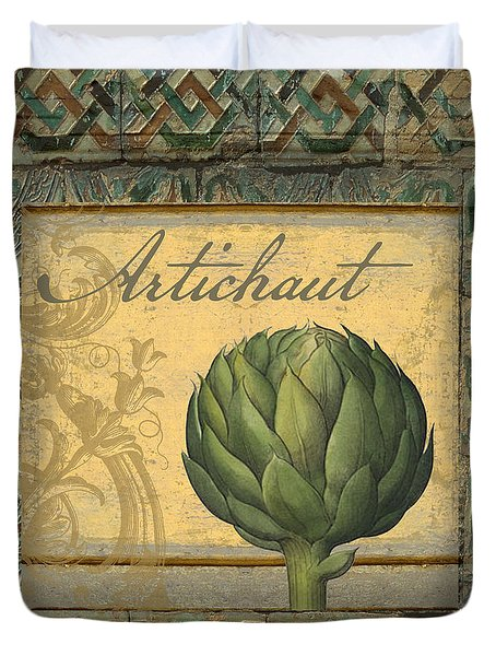 Tavolo, Italian Table, Artichoke Duvet Cover by Mindy Sommers