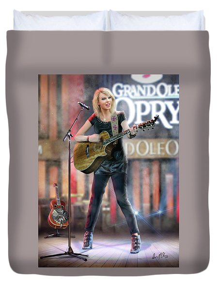 Taylor At The Opry Duvet Cover by Don Olea