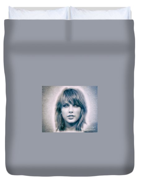Taylor Swift - Beautiful Duvet Cover by Robert Radmore