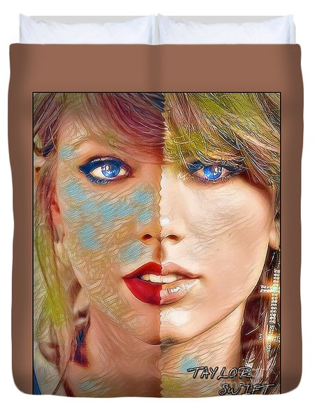 Taylor Swift - Blended Perfection Duvet Cover by Robert Radmore