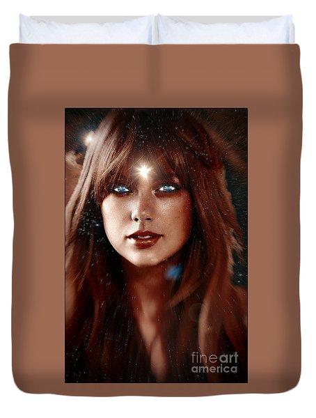Taylor Swift - Goddess Duvet Cover by Robert Radmore