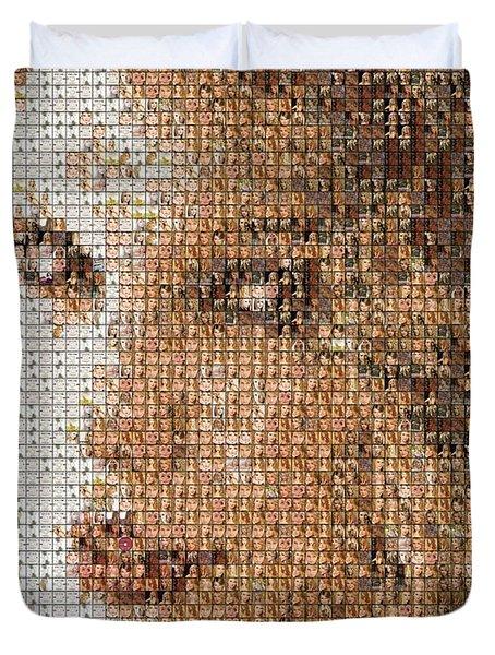 Taylor Swift Mosaic Duvet Cover by Paul Van Scott