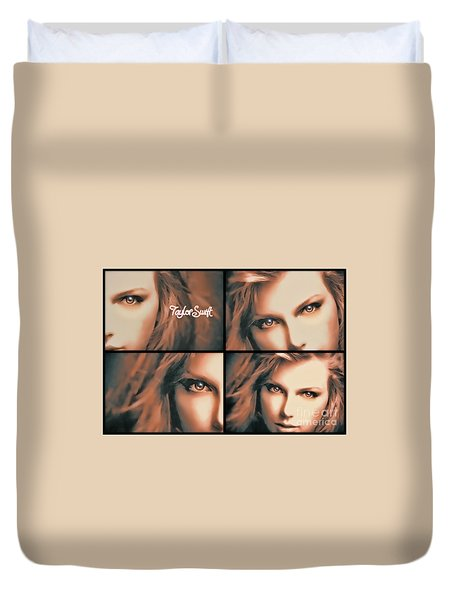 Taylor Swift - Parallels Duvet Cover by Robert Radmore