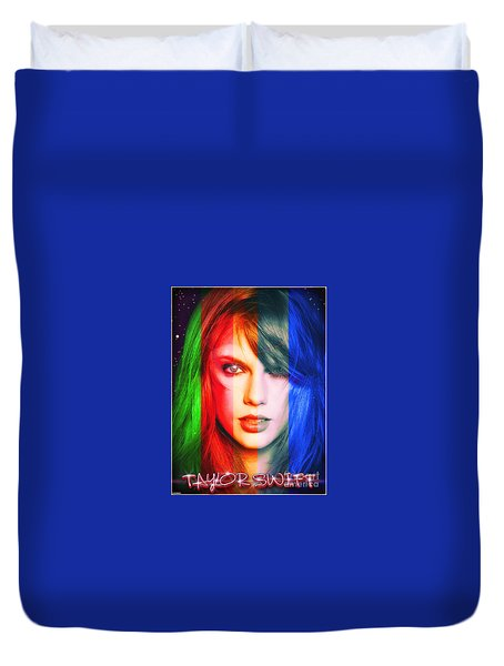 Taylor Swift - Sparks Duvet Cover by Robert Radmore