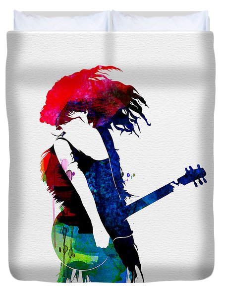 Taylor Watercolor Duvet Cover by Naxart Studio