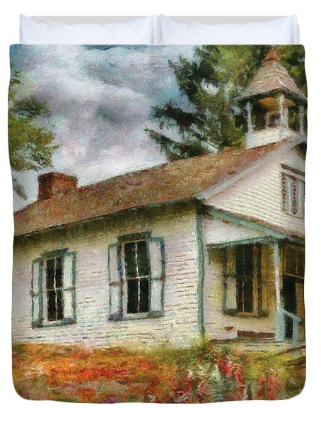 Teacher - The School House Duvet Cover by Mike Savad