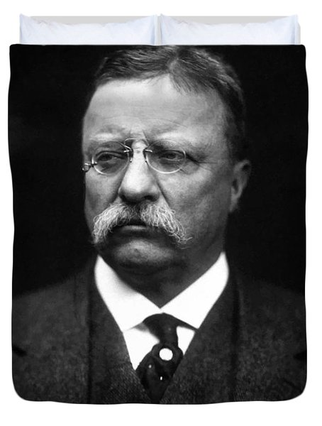 Teddy Roosevelt Duvet Cover by War Is Hell Store