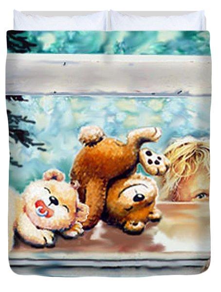 Teddy Tricks Duvet Cover by Hanne Lore Koehler