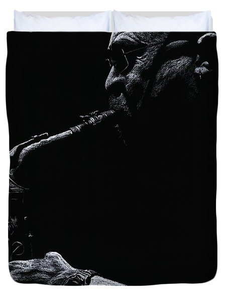 Temperate Sax Duvet Cover by Richard Young