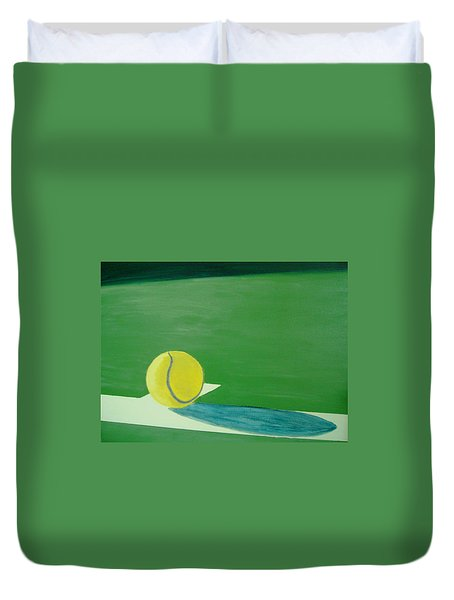 Tennis Reflections Duvet Cover by Ken Pursley