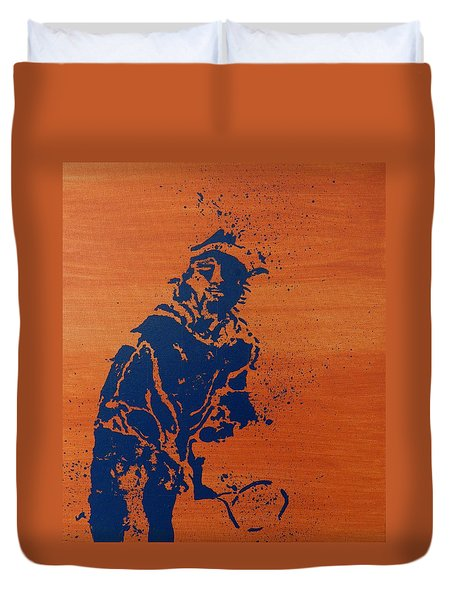Tennis Splatter Duvet Cover by Ken Pursley