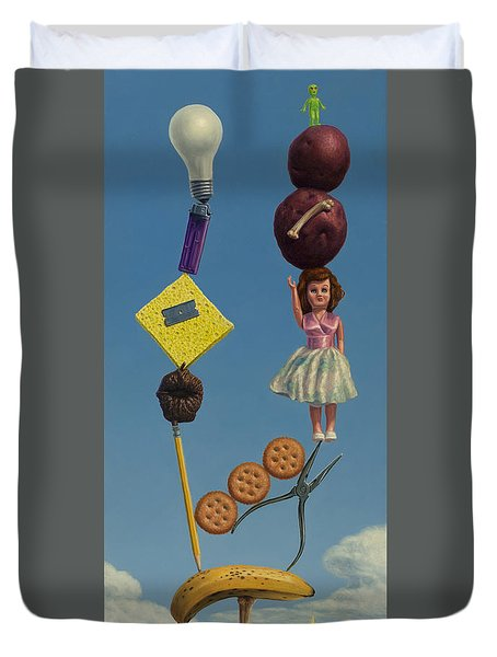 Tenuous Still-life 2 Duvet Cover by James W Johnson