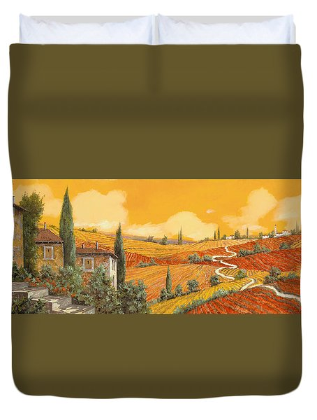 terra di Siena Duvet Cover by Guido Borelli