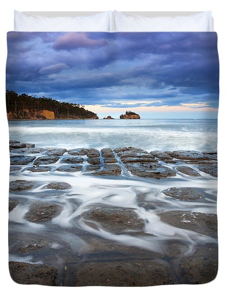 Tessellated Flow Duvet Cover by Mike  Dawson